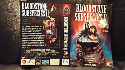 Rare  Sample  Vhs Cover ....bloodstone  Subspecies 2