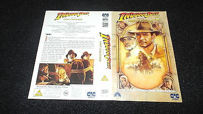 Rare  Vhs Cover ... ..indiana Jones  And The Last Crusade ...