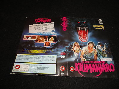 Pre Cert  Vhs  Cover ....in The Shadow Of Kilimanjaro ...18