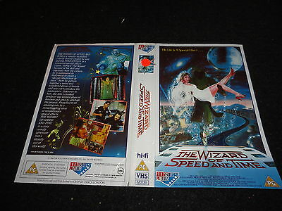Pre Cert Very Rare  Vhs  Cover ...the Wizard Of Speed And Time