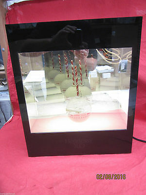 Hennessy Xo Extra Old Cognac Illuminated Infinity Mirror Display Case New