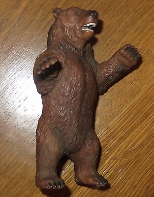 SCHLEICH Germany BROWN Standing GRIZZLY BEAR Plastic Animal TOY 1995