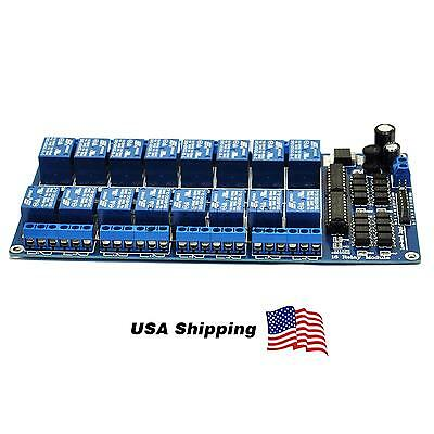 5V 16 Channel Relay Module Optocoupler Protection Power Supply Arduino PIC DSP