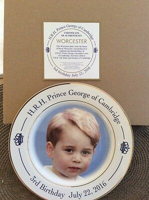 HRH PRINCE GEORGE 3rd birthday worcester commemorative plate