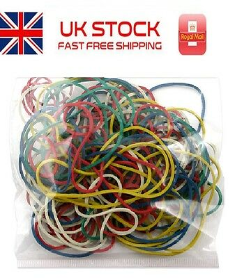 100g Strong Elastic Rubber Bands Coloured Assorted Size Office School Home