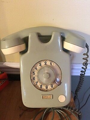 Vintage rotary phone. Made in western Germany
