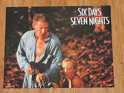 SIX DAYS SEVEN NIGHTS Movie Lobby Card Harrison Ford Anne Heche