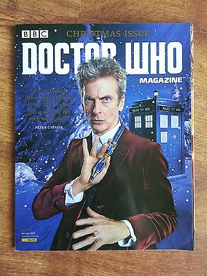 Doctor Who Magazine Dwm Issue 494 Christmas Special 2015 Includes Poster