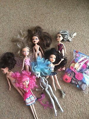 Massive Bundle Of Used / Incomplete ? Bratz Dolls And Accessories Plus Others X7