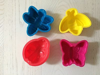 4x animal silicone baking/cake moulds approx 10cm each