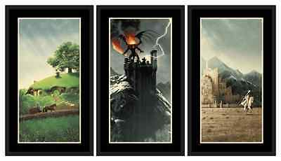 The Lord of the Rings Trilogy Set Movie Prints Posters by Matt Ferguson NT Mondo