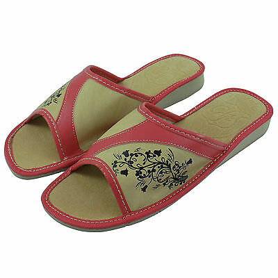 Ladies Women's Leather Slippers Shoes Mules Sandals, Size 3 (EUR 36)