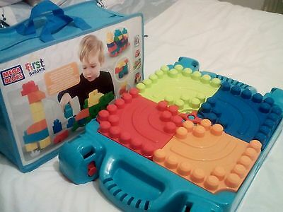 mega bloks table and bag of blocks - collection only