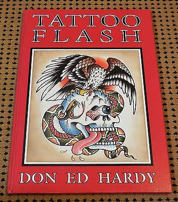 WOW!!!  TATTOO FLASH Book by Don Ed Hardy--Autographed with Custom Artwork!!