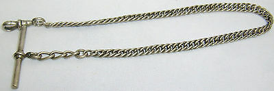 Vintage Antique Early Victorion Pocket Watch Chain Link 12 1/4 Inch