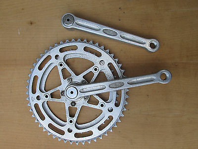 Stronglight 49D Ancien Pedalier Velo Vintage Bicycle Crankset 170 52 42