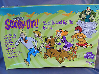 Scooby Doo Thrills and Spills Board Game 1999 Pressman Complete