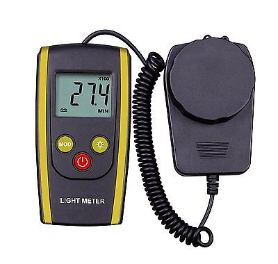 Amazingli Digital Luxmeter Handheld Photography Light Meter with LCD Display -