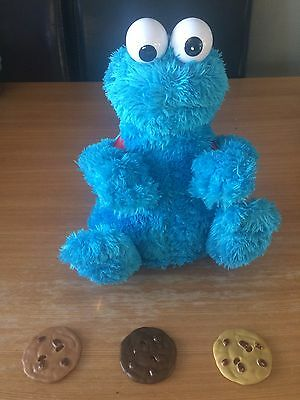 Cookie Monster Count 'N Crunch With 3 Cookies Working Order