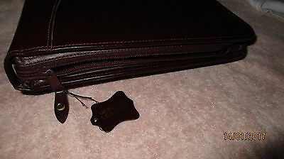 Leather conference document case