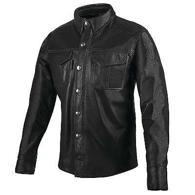 Speed and Strength Kill Switch Leather Moto Shirt Black Lg