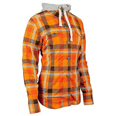 Speed and Strength Women's True Romance Armored Moto Shirt Orange XL
