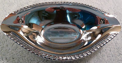 Doehler Jarvis mid-century vintage die-cast chrome candy or nut dish