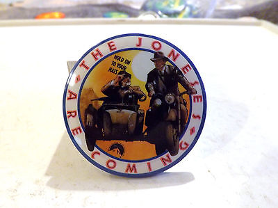 2 1/2 Inch Metal Button Pin Indiana Jones - Jones Are Coming Hold on to your hat