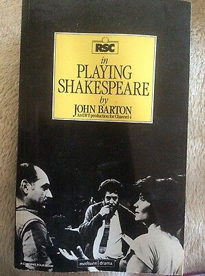 Paperback Book RSC in Playing Shakespeare by John Barton