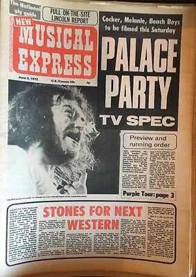 NEW MUSICAL EXPRESS NME 3 June 1972 *Fabulous David Bowie Tour Ad* Lincoln Fest