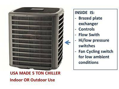 NEW 5 ton ChillKing In-Line Chiller USA Made 230V 3-phase Outdoor / Indoor R410a