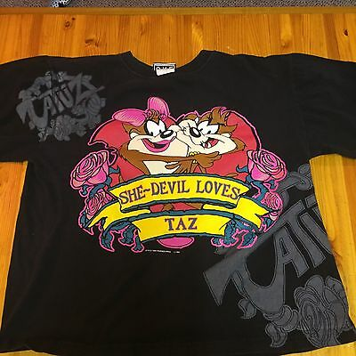Vintage She-Devil Loves Taz T Shirt Sz XL Warner Brothers Looney Tunes