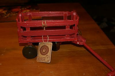 Nwt Retired Boyds  Bears Little Wood Red Wagon