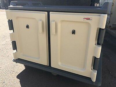 Used Lot of 6 Cambro MDC1520S20191 Granite Gray Meal Delivery Cart 20 Tray