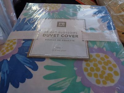 Pottery Barn Teen Bright Blossoms  twin duvet cool New