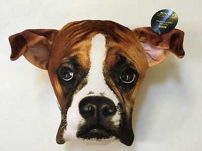 Throw Pillow Realistic Dog Puppy Face  BOXER - NWT