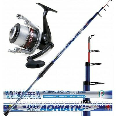 Kit Pesca Surf Casting Fondo Adriatic + Vigor Power + Filo PLA