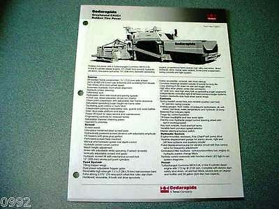 Cedarapids Grayhound CR551 Rubber Tire Paver Brochure