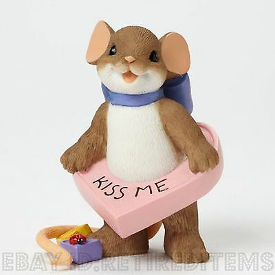 You're A Big Sweet Heart CHARMING TAILS Figurine Valentines Day Kiss Me Candy