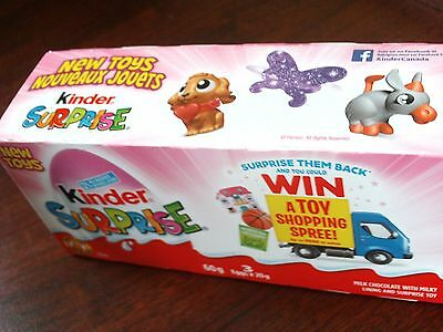 NEW 2017 Kinder Surprise for Girls 3pack box with chocolate from Canada