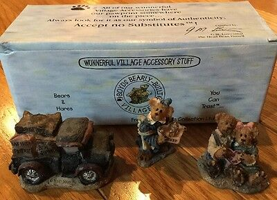 BOYDS VILLAGES 19509-1 COCOA'S HOUSE OF CHOCOLATE Accessory Set Bear Town