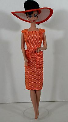 Vintage Reproduction Dress With Hat For Barbie Dolls