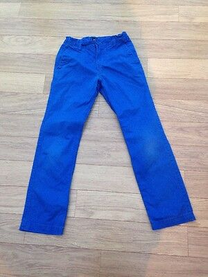 Boys Gap Chino Trousers Bright Blue Age 10-11 Years