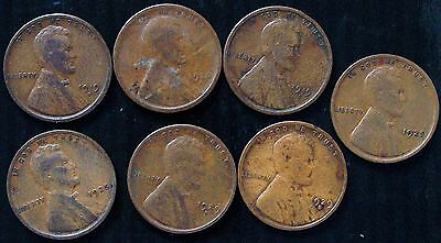 Pre 1930's Lincoln Wheat Cents Coins