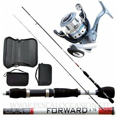 Kit Pesca Spinning Trout Area Canna + Mulinello + Porta Spoon PC