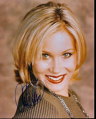 Christina  Applegate Hand Signed Colour Picture Ex Minus Condition 8X10 With Coa