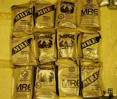 12x us army ration pack mre all still sealed
