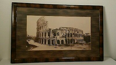 """Roman Colosseum Framed Picture """"Tiger Striped"""" Frame fits 8x15 picture"""