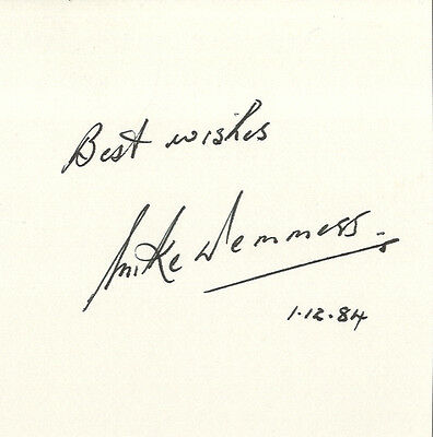 England Test Cricket - Mike Denness - Hand Signed Card.