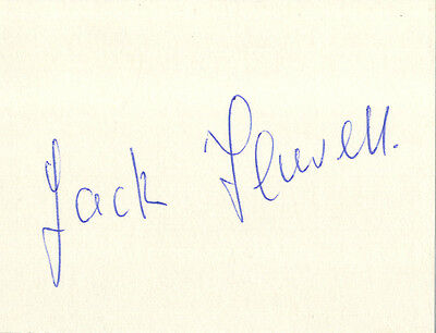 England Test Cricket - Jack Flavell - Hand Signed Card.